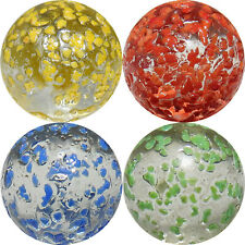 "4 x 25mm (1"") ASSORTED ""STAR DUST"" SHOOTER MARBLES - NEW"