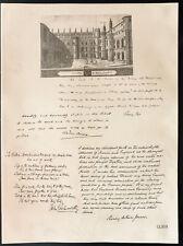 1926 - Lithographie Sir Sidney Lee, Pinero, John Galsworthy, Henry Arthur Jones