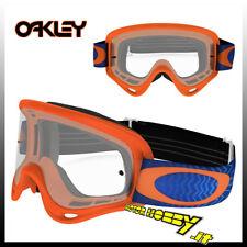 MASCHERA OCCHIALE CROSS ENDURO ATV OAKLEY O-FRAME MX SHOCKWAVE ORANGE BLUE