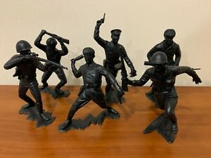 Set 6 Toy Big Solder Ussr Army Plastic Soviet Vintage 1980