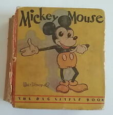 Mickey Mouse RARE Big Little Book Skinny Steamboat Willie Cover Walt Disney 1933