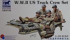 BRONCO CB35159 WWII US Truck Crew Set (4 Figuren) in 1:35