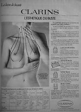 PUBLICITÉ 1978 CLARINS L'ESTHÉTIQUE DU BUSTE - FEMME NUE - SEINS - ADVERTISING