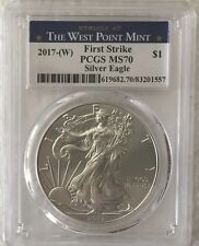 2017-(W)   PCGS MS70  American Silver Eagle  A Beautiful West Point Eagle