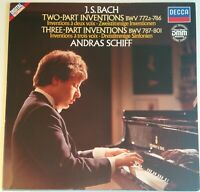 Bach Two & Three Part Inventions Andras Schiff DECCA Digital Stereo 6.43169 AZ