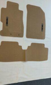 Fit 01-05 HONDA CIVIC Beige Nylon Floor Mats Carpet W/ Emblem
