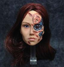 1/6 Head Sculpt Cameron Phillips Terminator TOK-715 Battle Damaged Summer Glau