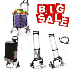 Newportable Luggage Shopping Cart Aluminum Folding Hand Truck Trolley