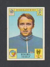 BOHUMIL VESELY CZECHOSLOVAKIA RARE ORIGINAL FIGURINE PANINI WORLD CUP 1970 CARD