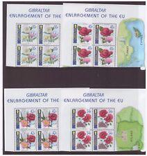 Gibraltar MNH 2003 Flowers Enlargement of the EU mint set block stamps