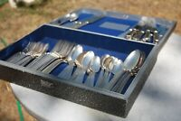 HTF,1930 flatware Gorham Alvin 77 pieces silverplate  Foxhound Chest,M.I. Naken