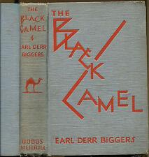The Black Camel-Earl Derr Biggers-Charlie Chan Hardcover-1929