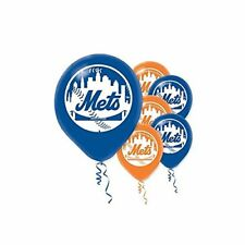 NEW YORK METS MLB Helium Quality Latex Balloons 6 per pk FREE U.S. Ship