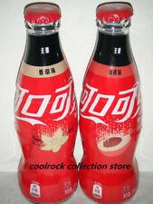 2019 China coca cola vanilla & peach 2 wrapped glass bottles set 200ml empty