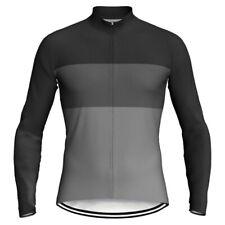 Cycling Jersey Black Grey Long MTB Motocross Bike Jacket Mountain Road Top Shirt