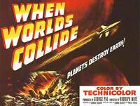 WHEN WORLDS COLLIDE SCI FI PLANETS DESTROY EARTH SPACE ART PRINT POSTER BB7910