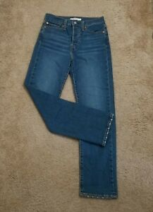 Vintage Levi's Wedgie High Waisted Women's Jean's Button fly Straight Leg SZ 27
