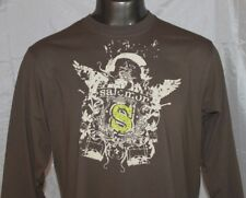 SALOMON Long Sleeve Athletic Crewneck T-Shirt Men's Sz 2XL Fitness Tee Brown NWT