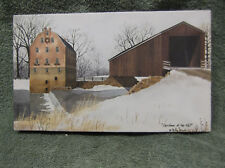 Lighted Christmas at the Mill Lighted Canvas Covered Bridge Billy Jacobs New