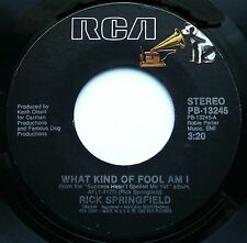 "RICK SPRINGFIELD What Kind Of Fool/How Do You Talk To Girls 7""45rpm RCA Records"
