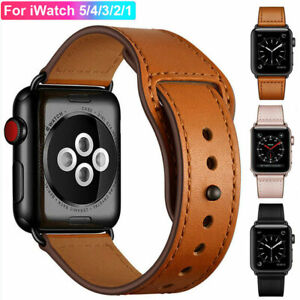 For AppleWatch iWatch Series 6 5 4 3 SE 38/40/42/44mm Genuine Leather Band Strap