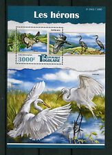 Togo 2015 MNH Herons 1v S/S Birds Black-Headed Heron Stamps
