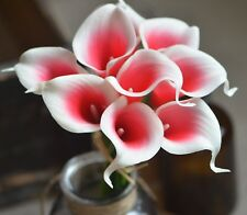 9 Red Picasso Calla Lilies Real Touch Flowers For Wedding Bouquets Centerpieces