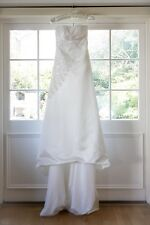 New: Lydia Couture 'Rose' Empire line Satin & Lace wedding dress.  14. Beaded.