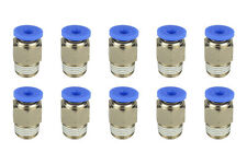 10x TEMCo Pneumatic Air Quick Push to Connect Fitting 1/8