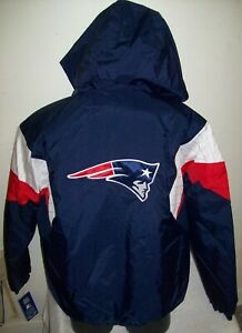NEW ENGLAND PATRIOTS STARTER Hooded Jacket  S, M, L, XL, 2X