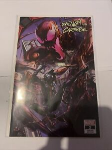Gwenom Vs Carnage #2 Clayton Crain Variant Marvel Comics 2021 Trade Dress Spider
