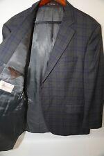 #49  Peter Millar Classic Fit Plaid Blazer Suit Jacket Size 46 R