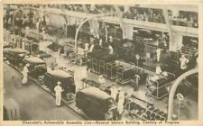 1933 Chicago Illinois Chevrolet Assembly GM Building Century Progress Postcard