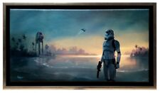 AT-ACT Star Wars Rogue One Stormtrooper Beach Framed Fine Art Giclée on Canvas