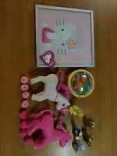 Lotto Hello Kitty + Minipony Vintage giocattoli più accessori.