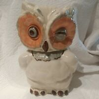 Vintage Shawnee Winking Owl Cookie Jar Canister Retro Woodland EVC