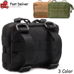 Tactical Molle Pouches Admin Pouch Compact EDC Utility Multi Purpose Waist Bag