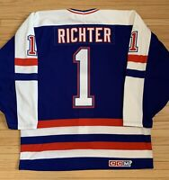 Authentic CCM Airknit 1988 Olympics Team USA Mike Richter Hockey Jersey-52