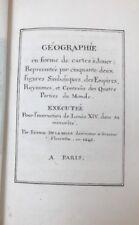 LE JEU DE LA GEOGRAPHIE  Louis XIV  DELLA BELLA 1646