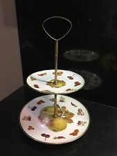 2 TIER CAKE SERVING STAND Royal Hanover vintage GERMANY fruit and nuts  LOVELY!
