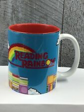 Vtg Reading Rainbow Multicolor Pixel Minecraft Ceramic Coffee Tea Cup Mug Mario