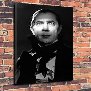 "Classic Horror Dracula, Printed Canvas A1.30""x20""-Deep 30mm Frame Bella Lugosi"