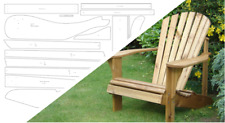 Adirondack Chair & Footstool Plan - Alfresco Furniture