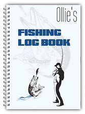 NUOVO A5 Pesca Personalizzato registro DIARIO Planner Dad Grandad HOBBY regalo 01