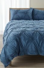 Nordstrom at Home Chloe Queen Size Cotton Duvet Cover Blue Moonlight Heather