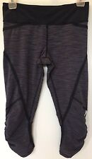 Lululemon Run Pace Size 4 Crop Wee Are From Space Deep Indigo Navy Inkwell Crop