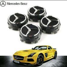 OEM Mercedes Amg Aleación de Cubo de Rueda Centro Tapas-Negro 75 Mm a B C E S CLASE ML