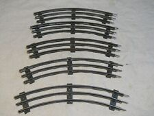 "Lot of 5 VTG ~ ""O"" Scale/Gauge 3 Rail Model Train Track Curve Sections"
