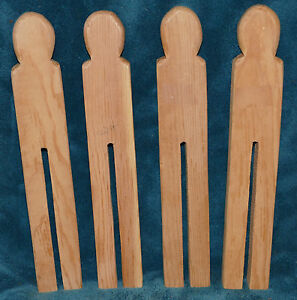 ONE LARGE UNFINISHED WOOD CLOTHESPINS/DOLL BODIES! NEW 4 Available