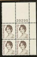 1822 - 15c Dolley MADISON - First Lady - Plate Block of 4 - MNH